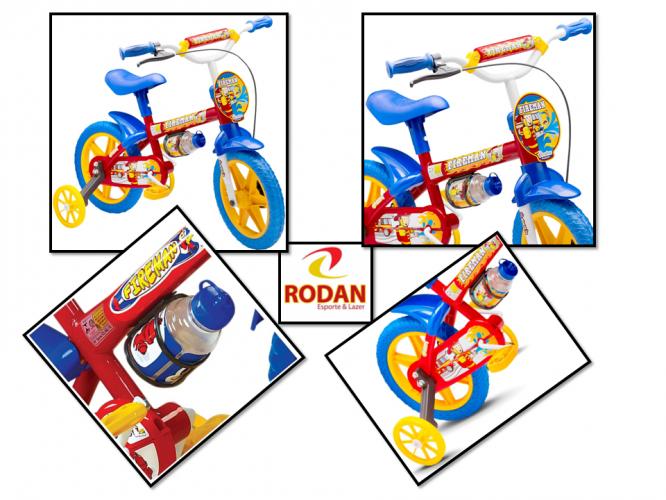 840411563 Cod 2479 Bicicleta aro 12 Nathor Masculina Modelo Fireman