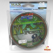 Linha Multifilamento Max Force 8x 0.27 mm - 150mt / 52 lb = 23.5 kg - Cod. 1011